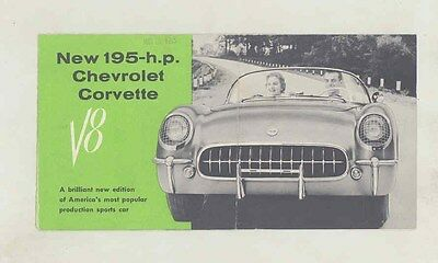1955 Chevrolet Corvette ORIGINAL Brochure ww1842