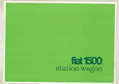 1965 Fiat 1500 Station Wagon Brochure ww1854