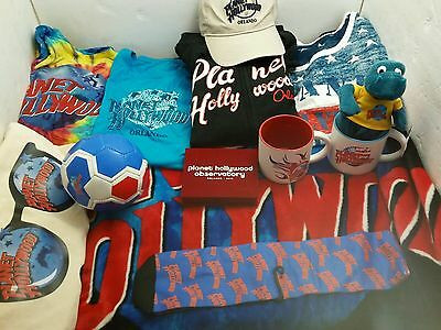 PLANET HOLLYWOOD Mer 13 COLLECTIBLE Items SHIRTS Sweatchirts Blanket And More