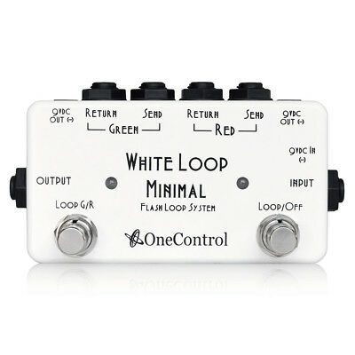 One Control White Loop Flash Looper Pedal Free Shipping New