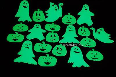 Set of 20 Glow in the Dark Halloween Ghosts and Jack O Lantern Pumpkins