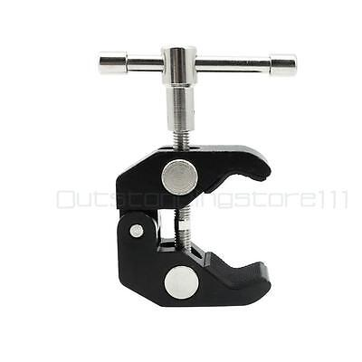 """Versatile Rotary Handle Crab Claw Clamp Bracket with 1/4"""" & 3/8"""" Female Thread"""