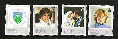 Pitcairn Islands 1982 Birthday Princess Of Wales Set 4