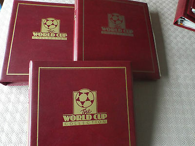 World Cup Masterfile 1994 Stamp Albums x3 - Bobby Moore Coin Cover ++