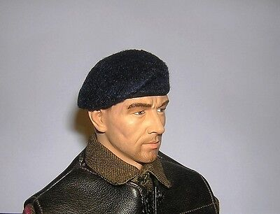 WW2 Grey Polish Airbourne With Patch Banjoman 1:6 Scale Custom Made Beret