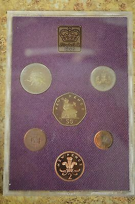 1980 Royal MInt Great Britain & Northern Ireland UK 6 Coin Proof Set