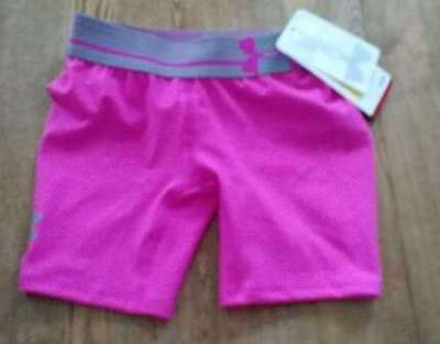 Under Armour Youth Girls Small HeatGear Pink & Gray Shorts