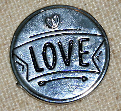 Love Pocket Token Lucky Coin Pewter Inspirational NIP Inspire On   Nice Gift