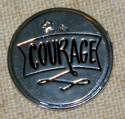 Courage Pocket Token Lucky Coin Pewter Inspirational NIP Inspire On   Nice Gift