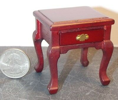 Dollhouse Miniature End Table with drawer Mahogany 1:12 one inch scale  K87