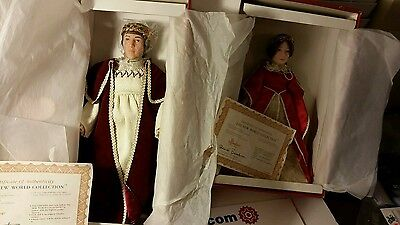 Queen Isabella King Ferdinand Effanbee Doll company 1989 New World Collection