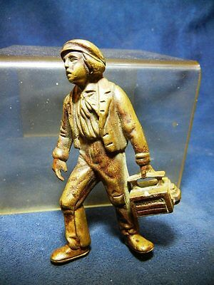Vintage Bronze / Brass Figural Shoeshine Boy Off Match Holder Or Box
