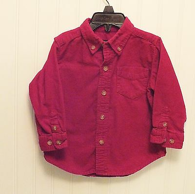 The Children's Place Corduroy Button-down Shirt, size 18 mo- Long Sleeved - EUC