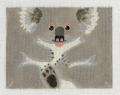 LIZ Happy Brown Bear Roll up 3-D Ornament handpainted Needlepoint Canvas 18m