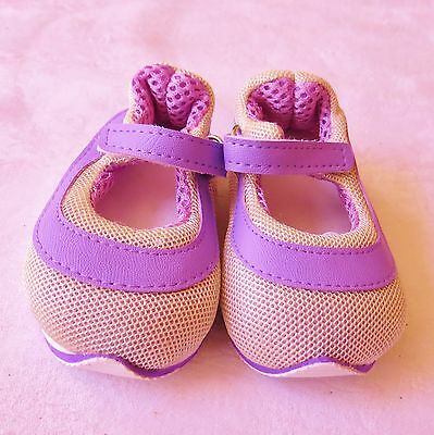 """Mary Jane One-Strap Purple Sneakers fit 23/"""" Straight Leg Poseable Doll 98mm"""