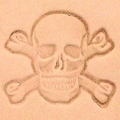 Skull and Crossbones 3-D Leather Stamp Tool 8547-00