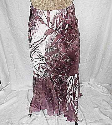Ariellu 10 Maxi Evening Cocktail Skirt 20S 30S Style Lined Dusky Pinks Exquisite