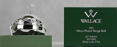 Wallace 2012 Silver Plated Sleigh Bell Ornament 42nd Edition NIB