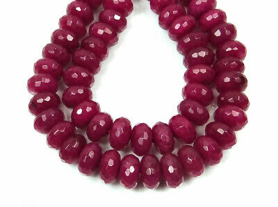 "natural! 5X8MM Faceted Genuine Red Ruby Abacus Loose Beads 15"" Strand AAA"
