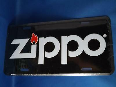 Zippo Lighter License Plate Metal Collector Car Bike Shop Sign Oil Gas Collector