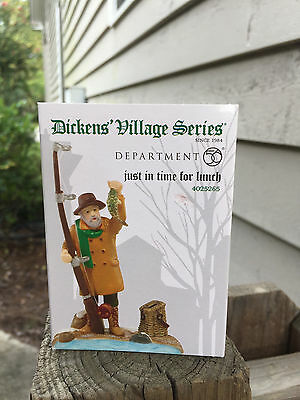 DEPT 56 DICKENS' VILLAGE Accessory JUST IN TIME FOR LUNCH NIB