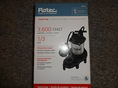 Flotec Submersible Thermoplastic Sump Pump 1/3 Hp Fpzs33T  ** New **