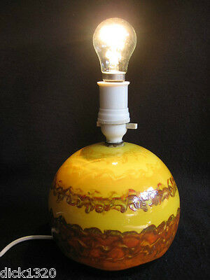 ART DECO GREY'S POTTERY HAND-PAINTED GLOBULAR SILL LAMP c.1930's EX