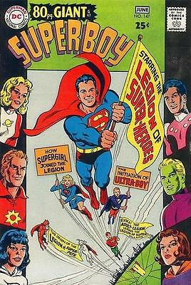 SUPERBOY #147 VG/F, 1st Legion origin, 80 pg. Giant, tear on F/C, DC Comics 1968