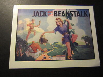 Old Vintage - 1930's Pantomime THEATRE Mini POSTER - JACK and the BEANSTALK