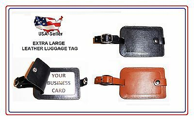 Luggage Tag - Leather - Stiched - Nice! Excellent Quality