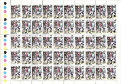 Australian 1979 First Fleet Landing 1788 Stamp Sheet 50x 20c Australia Day Issue