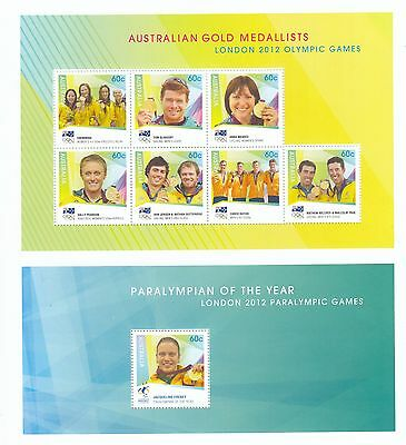 Stamps Australia 2012 London Olympic Games limited edition year book sheetlet