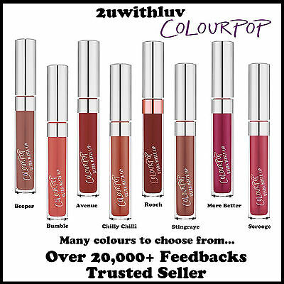 Colourpop Ultra Matte Liquid Lipstick Authentic From U.s. Bnib Choose Your Shade