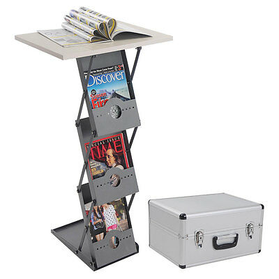 Portable Counter Literature Brochure Holder Folding Rack Table Trade Show Podium