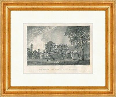 Yale College State House Newhaven Connecticut Stahlstich Meyers Universum 0132