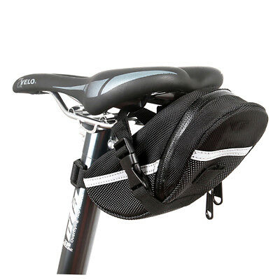 Black Rear Storage Seat Waterproof Bag Pouch Bike Bicycle Saddle New Tail DS