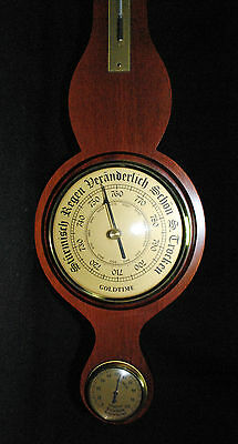 Barometer Hydrometer Thermometer Goldtime Messing Naturholz