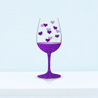 95 Small Hearts Wedding Wine Glasses / Bauble Vinyl Decals Stickers (V18)