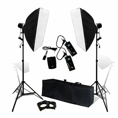 320W Photo Studio Strobe Flash Light Lighting + Softbox Trigger Set/Kit