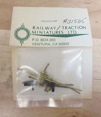 Railway/Traction Miniatures Brass Trolley Pole (Set of 2) 31565 NOS