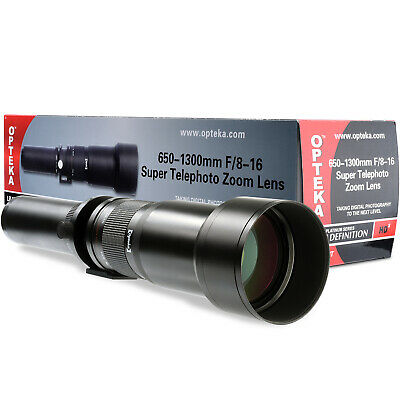 Opteka 650-1300mm High Definition Ultra Telephoto Zoom Lens for Nikon F-mount