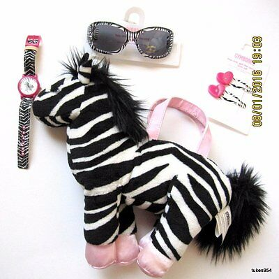 Gymboree Wild One Zebra Purse Watch Hair Glasses 5 Pc Set 2-3-4 2 NWT New