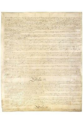 U.S. Constitution Page 3 Art Poster Print Poster - 24x36