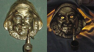 OLD NIGHT WALL LAMP SCONCE SAILOR HEAD MASK w/ PIPE ON/OFF SWITCH BUTTON WORKS!