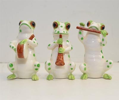 Vintage lot of 3  Frogs in a Band Made in Japan