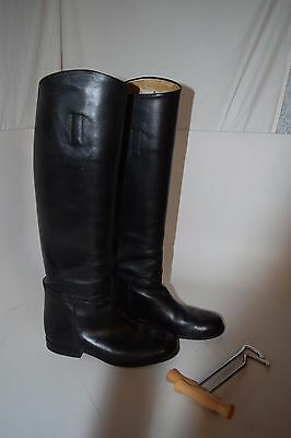Veltheim Riding Boots 7C Black Leather Horse Equestrian Tall Excellent Condition