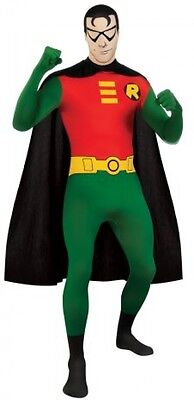 DC Comics Adult Robin 2nd Skin Zentai Super Suit, Green/Red, X-Large Costume