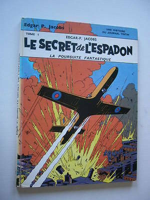 BLAKE MORTIMER  LE SECRET DE L'ESPADON T.1 LA POURSUITE FANTASTIQUE de 1970
