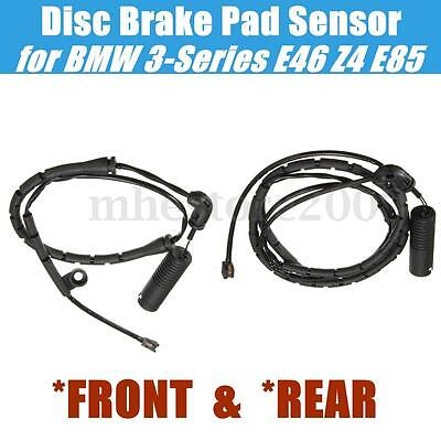 Front + Rear Brake Pad Sensor For BMW E46 E85 320i 323Ci 323i 325Ci #34351164371