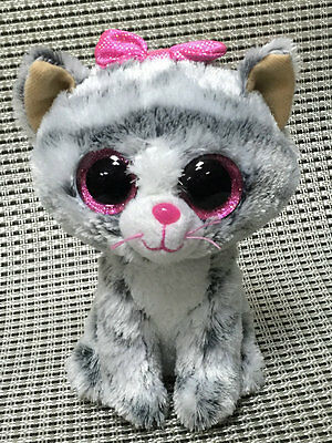 Soft Toy From TY BEANIES BOOS ~kiki6 Inch Cat missing Tush tags
